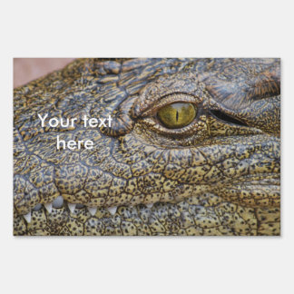 Nile crocodile from Africa Lawn Signs