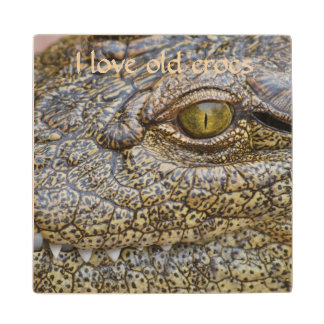 Nile crocodile from Africa Maple Wood Coaster
