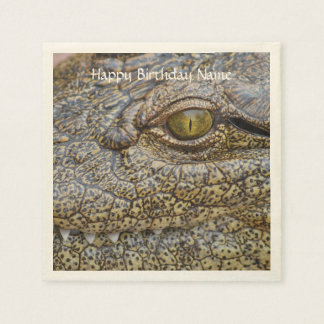 Nile crocodile from Africa Paper Napkins
