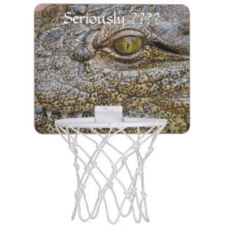 Nile crocodile from Africa Mini Basketball Backboards