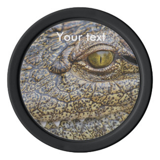 Nile crocodile from Africa Poker Chip Set