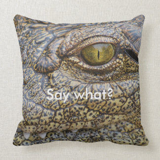 Nile crocodile from Africa Throw Pillow