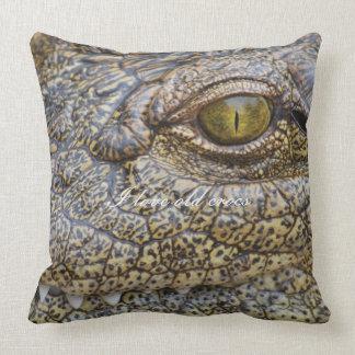 Nile crocodile from Africa Throw Pillows