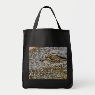 Nile crocodile from Africa Tote Bags