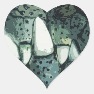 Nile Crocodile Heart Sticker