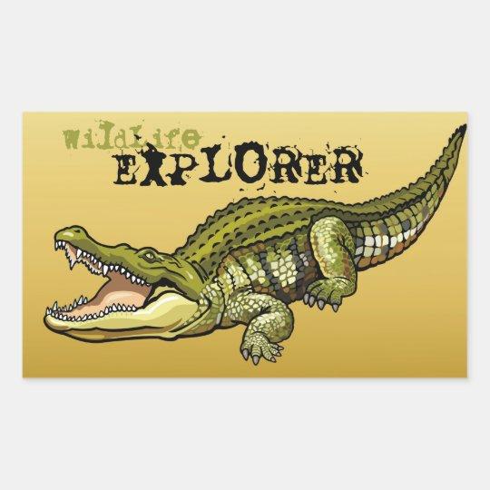 nile crocodile rectangular sticker