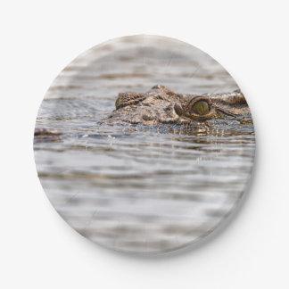 Nile Crocodile 7 Inch Paper Plate