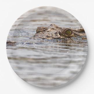 Nile Crocodile 9 Inch Paper Plate