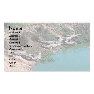 Nile Crocodiles Business Card Template