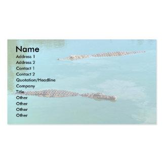 Nile Crocodiles Business Card Templates