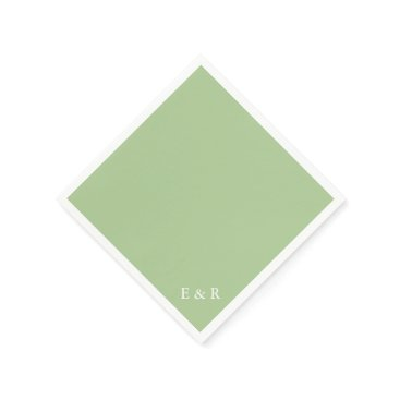 Beach Themed Nile Green - Spring 2018 London Fashion Trends Paper Napkin