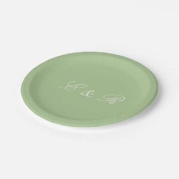 Beach Themed Nile Green - Spring 2018 London Fashion Trends Paper Plate