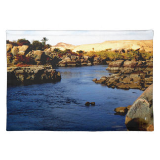 Nile River in Aswan river - Sahara Desert Placemats