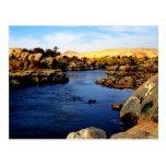 Nile River in Aswan river - Sahara Desert Post Cards