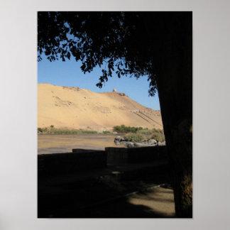 Nile River Landscape in Egypt Poster