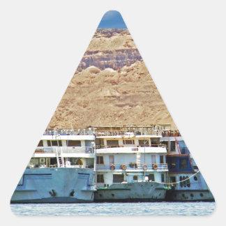 nile river triangle sticker