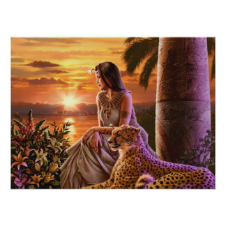 """""""Nile Sunset"""" Art Poster"""