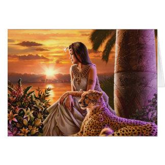 """Nile Sunset"" Card"