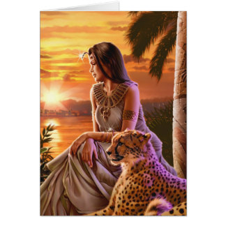 """Nile Sunset"" Greeting Cards"