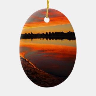 Nile Sunset Ceramic Ornament