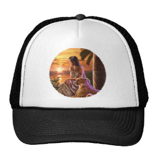 """Nile Sunset"" Close Up Trucker Hats"