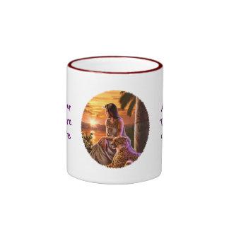 """""""Nile Sunset"""" Close Up Ringer Mug"""