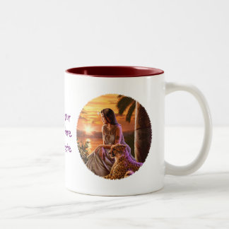 """Nile Sunset"" Close Up Two-Tone Coffee Mug"