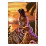 """Nile Sunset"" Greeting Card"