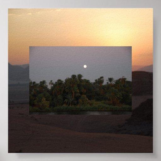 Nile Sunset on Sunrise Over Wadi Rum Poster