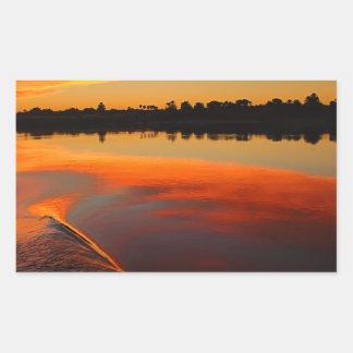 Nile Sunset Rectangular Sticker