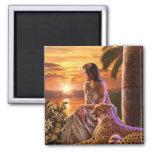 """Nile Sunset"" Refrigerator Magnet"
