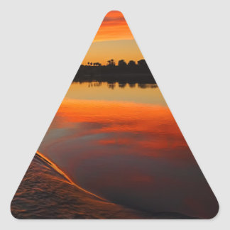 Nile Sunset Triangle Sticker