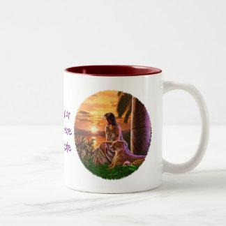"""Nile Sunset"" Two-Tone Coffee Mug"