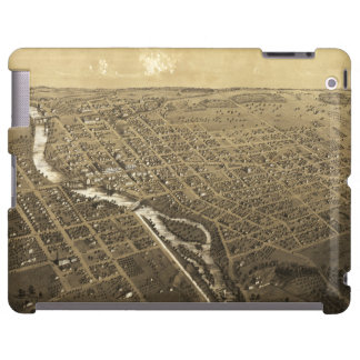 Niles, el condado de Berrien, Michigan (1868) Funda Para iPad