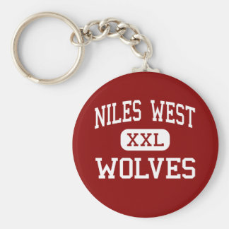 Niles West - Wolves - High - Skokie Illinois Basic Round Button Keychain