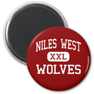 Niles West - Wolves - High - Skokie Illinois 2 Inch Round Magnet