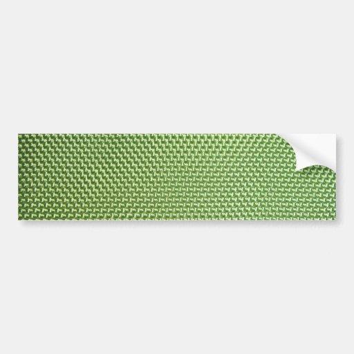 Nilón balístico verde etiqueta de parachoque