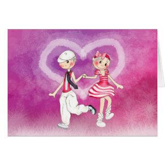 Nils&Freya holding hand's Card