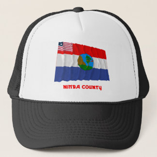 Nimba County Waving Flag with Name Trucker Hat