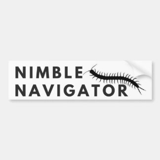 Nimble Navigator Centipede Bumper Sticker