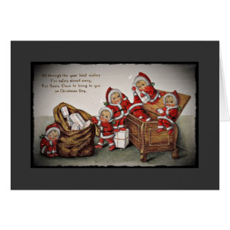 Nimbly Nicks in a Toy Chest Greeting Card