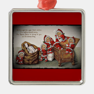 Nimbly Nicks in a Toy Chest Metal Ornament