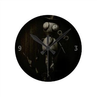 Nimbus in Black and White Round Clock