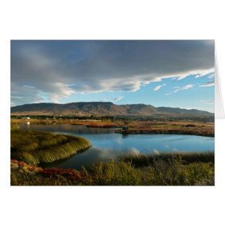 Nimez Lagoon at golden hour Card