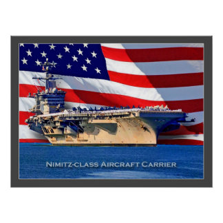 Nimitz-class Aircraft Carrier Navy Poster