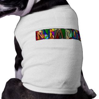 NIMROD ~ PERSONALIZED BIG LETTER PET-WARE FOR DOGS TEE