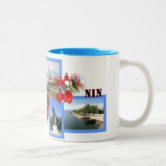 Nin, Croatia sulk with photograph Two-Tone Coffee Mug