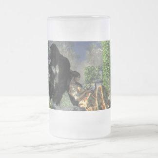 Nin@era del gorila taza de cristal