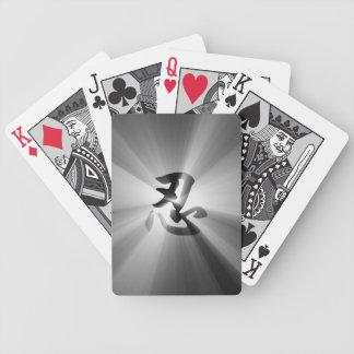 Nin Kanji Black Star Burst Playing Cards