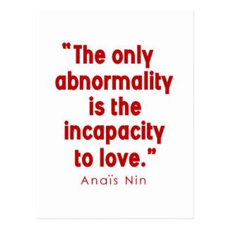 Nin on Abnormality Postcard